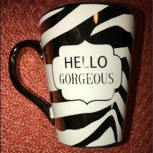 Hello Gorgeous Gant coffee tea mug gold cup